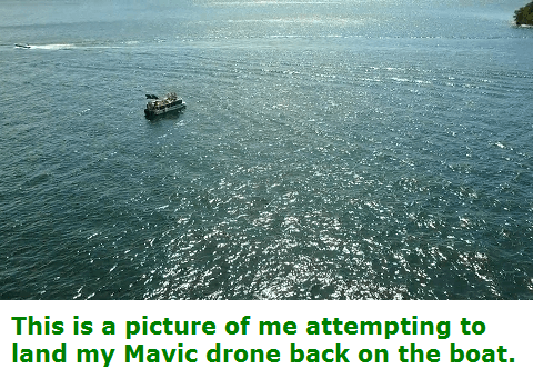 how to land a drone on a boat
