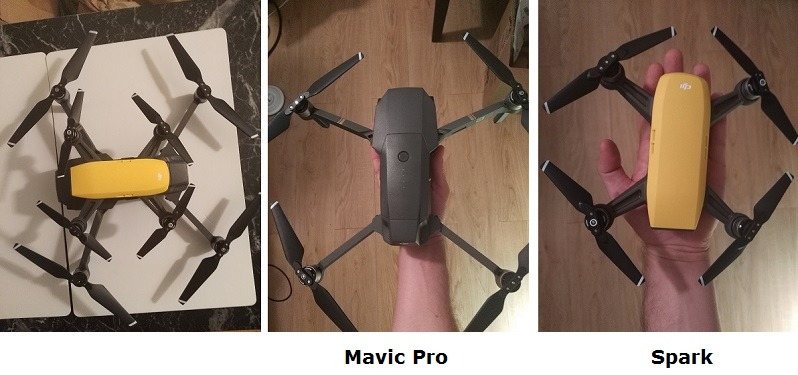 mavic pro vs spark size difference