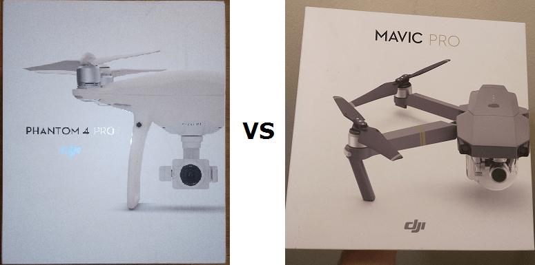 mavic pro vs phantom 4 pro