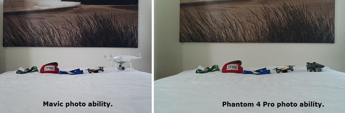 mavic pro vs phantom 4 pro camera comparison