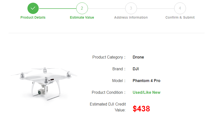 dji trade up estimate